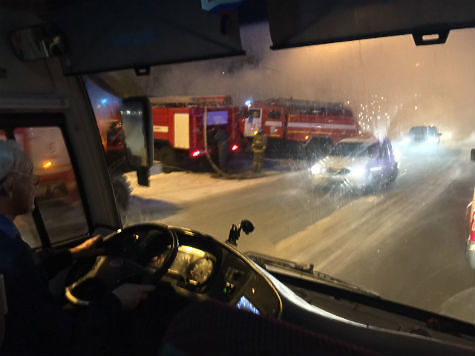 ВСамаре наКрасноглинском шоссе горел автосервис