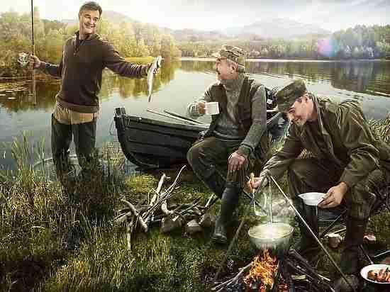 На рыбном месте